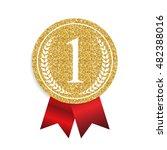 art golden medal icon sign... | Shutterstock .eps vector #482388016