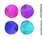 set of colorful watercolor... | Shutterstock .eps vector #482388844