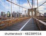new york city brooklyn bridge... | Shutterstock . vector #482389516