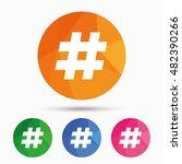 hashtag sign icon. social media ... | Shutterstock .eps vector #482390266