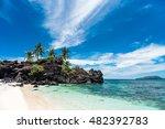 paradise island | Shutterstock . vector #482392783