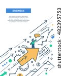 business success   line design... | Shutterstock . vector #482395753