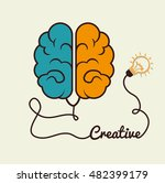 cartoon brain idea creative... | Shutterstock .eps vector #482399179