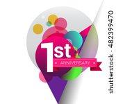1st anniversary logo  colorful... | Shutterstock .eps vector #482399470