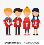 cartoon elections vote design | Shutterstock .eps vector #482400928