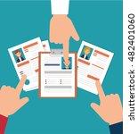 hand human resorces recruit... | Shutterstock .eps vector #482401060