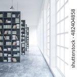 modern concrete library... | Shutterstock . vector #482404858