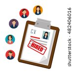human resources recruit hired... | Shutterstock .eps vector #482406016