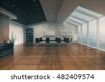 conference room interior with... | Shutterstock . vector #482409574