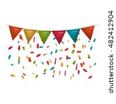 colorful pennants party... | Shutterstock .eps vector #482412904