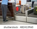 luggage weighting at check in... | Shutterstock . vector #482413960