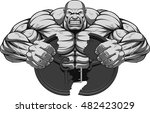 vector illustration  a fierce... | Shutterstock .eps vector #482423029
