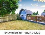 Home Garden On Backyard With...