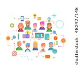 concepts of word team. flat... | Shutterstock .eps vector #482427148