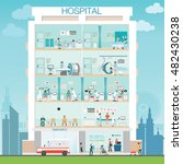 hospital building with doctor... | Shutterstock .eps vector #482430238
