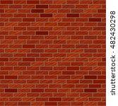 scratched brick wall texture.... | Shutterstock .eps vector #482430298