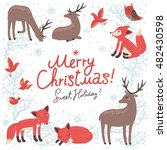 christmas background. new year... | Shutterstock .eps vector #482430598