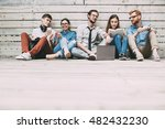 young creative team. project... | Shutterstock . vector #482432230