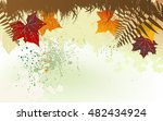 autumn background with a space... | Shutterstock . vector #482434924