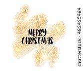 gold sparkles on black... | Shutterstock .eps vector #482435464