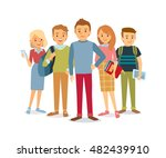 vector group of students | Shutterstock .eps vector #482439910