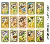 vector logo sunflower and olive ... | Shutterstock .eps vector #482449054