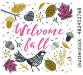 welcome fall. print design | Shutterstock .eps vector #482452768