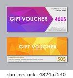 set of gift vouchers. templates ... | Shutterstock .eps vector #482455540