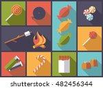 horizontal flat design long... | Shutterstock .eps vector #482456344