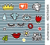 Set Of Simple Fashion Badge...