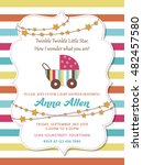 lovely baby shower card with... | Shutterstock .eps vector #482457580