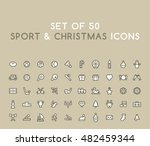 set of 50 solid sport and... | Shutterstock .eps vector #482459344