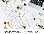 wedding planner schedule... | Shutterstock . vector #482462428