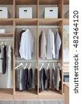 classic gentleman wardrobe with ... | Shutterstock . vector #482464120
