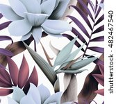 seamless tropical flower  plant ... | Shutterstock . vector #482467540