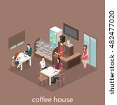 isometric interior of sweet... | Shutterstock .eps vector #482477020