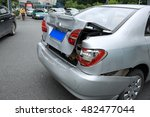 car crash accident on street ... | Shutterstock . vector #482477044