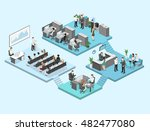 isometric flat 3d abstract... | Shutterstock .eps vector #482477080