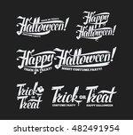 happy halloween trick or treat... | Shutterstock .eps vector #482491954