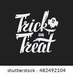 Trick Or Treat Lettering Desig...