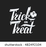 trick or treat lettering design ... | Shutterstock .eps vector #482492104