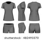 women's t shirt short sleeve... | Shutterstock .eps vector #482493370