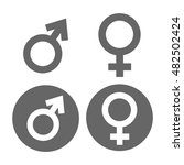 male and female symbol flat... | Shutterstock .eps vector #482502424