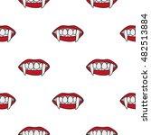 canines vampira. seamless... | Shutterstock .eps vector #482513884