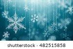 macro snowflake and fallen... | Shutterstock . vector #482515858