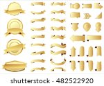 ribbon vector icon gold color... | Shutterstock .eps vector #482522920
