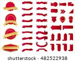 ribbon vector icon red color on ... | Shutterstock .eps vector #482522938