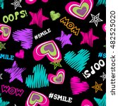 funny colorful creative vector... | Shutterstock .eps vector #482525020
