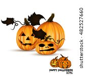 set pumpkins for halloween... | Shutterstock .eps vector #482527660