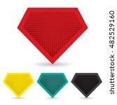 set of superhero logo template. ...   Shutterstock .eps vector #482529160